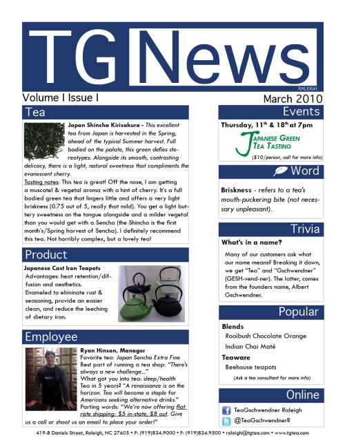TG News - March 2010